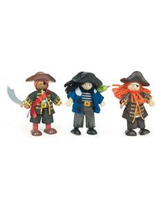 Le Toy Van Buccaneers Pirate Budkins Set