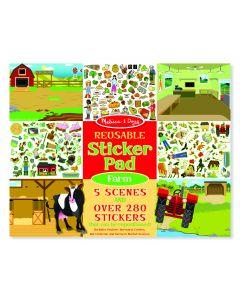 Melissa and Doug Reusable Sticker Pad – Farm