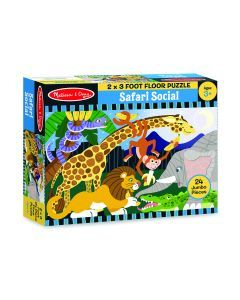 Melissa & Doug Safari Social Floor Puzzle 24pc