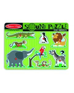 Melissa and Doug Zoo Animals Sound Puzzle – 8pc