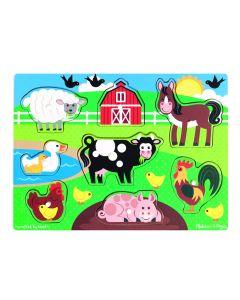 Melissa and Doug Farm Peg Puzzle