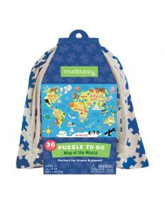 Mudpuppy 36 pc To Go Puzzle - Map of World