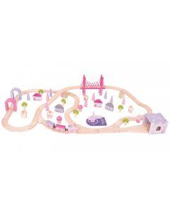 Bigjigs Fairy Town Train Set 75pcs