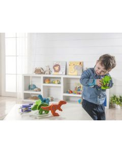 Bamboo Dinosaurs for Pretend Play