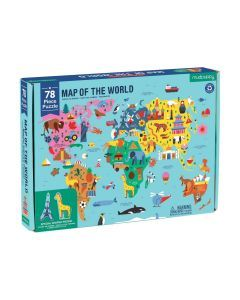 Puzzle Map of the World -78 Pcs