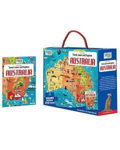Travel Learn Explore Puzzle & Book Set - Australia