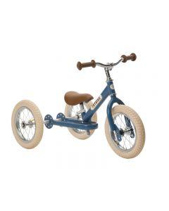 Trybike Steel Blue Vintage, Chrome Parts & Creme Tyres