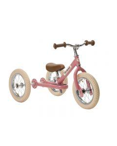 Trybike Steel Pink Vintage,Chrome Parts & Creme Tyres