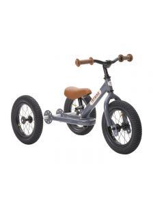 Trybike Steel Grey, Brown Seat & Grips