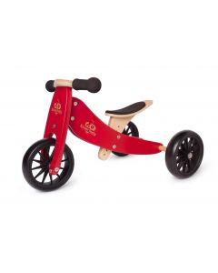 [PreOrder] Kinderfeets Tiny Tot Trike - Cherry Red - ETA 27th July