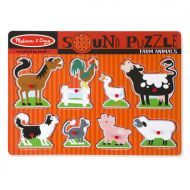 Melissa and Doug Farm Animals Sound Puzzle – 8pc
