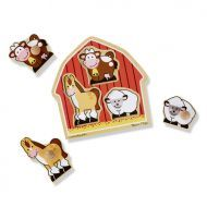 Melissa and Doug Barn Animals Jumbo Knob Puzzle 3 Piece