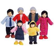Hape Dolls Asian Family Set of 6