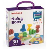 Miniland Aptitude Activity Nuts and Bolts, 30 pcs