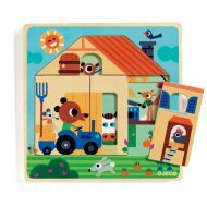 Chez Gaby Barn 3 Layer Wooden Puzzle