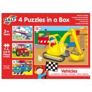 Galt - Four Puzzles In A Box - Vehicles