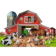 Melissa and Doug - Busy Barn Shaped Floor Puzzle - 32pc