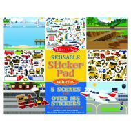 Melissa and Doug Reusable Stickers - Vehicles