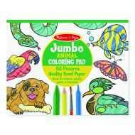 Melissa and Doug Jumbo Colouring Pad - Animals
