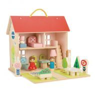 Dolls House Set with Furniture and Dolls