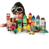 FAO Schwarz Toy Wooden City Blocks 50pc Around the World
