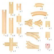 Bigjigs  Track Expansion Set  25pcs