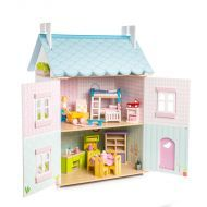 Le Toy Van Blue Bird Cottage Doll House with Furniture