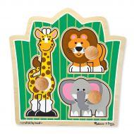 Melissa and Doug Jungle Friends Knob Puzzle 3 Piece
