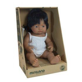Miniland Doll Hispanic Girl, 38 cm