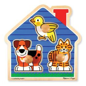 Melissa and Doug House Pets Jumbo Knob Puzzle 3 Piece