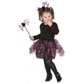 Children Costumes - WITCH ACCESSORIES PURPLE SPIDERS