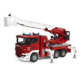 Bruder Scania R-Series Fire Engine w/ Ladder and Water Pump