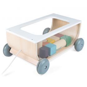 Janod - Cocoon Cart with Blocks