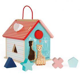 Janod - Sophie La Girafe Shape Sorting House