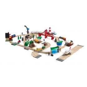 BRIO Set - Railway World Deluxe Set with 106 pieces