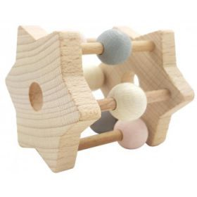 Hess-Spielzeug Rattle Star Natural Pink