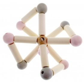 Hess-Spielzeug Rattle Natural Twisty Pink