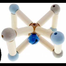 Hess-Spielzeug Rattle Natural Twisty Blue