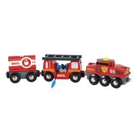 BRIO Vehicle - Rescue Firefighting Train- 4 pieces