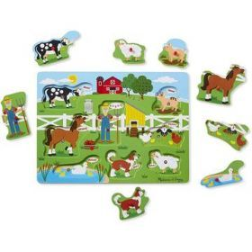 Melissa and Doug Old McDonald's Farm Song Puzzle - 8pc