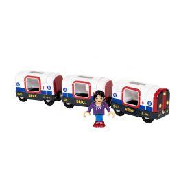 BRIO Train - Metro Train with Sound & Lights- 4 pieces