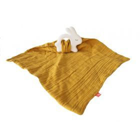 Kikadu Rabbit with Towel Mustard