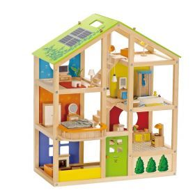 Hape All Seasons Dolls House Furnished