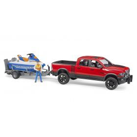 Bruder - RAM 2500 Power Wagon with Trailer and Watercraft 02503