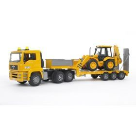 Bruder - MAN TGA Low Loader Truck with JCB Backhoe Loader