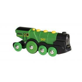 BRIO Battery - Big Green Action Locomotive
