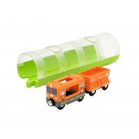BRIO Train - Cargo Train and Tunnel- 3 pieces