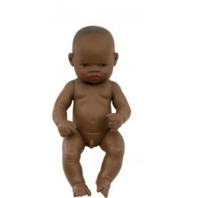 Miniland African Boy, 32 cm Naked