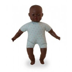 Miniland Doll Soft Bodied Doll with articulated head, African, 40 cm