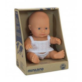 Miniland Doll Caucasian Boy, 21 cm